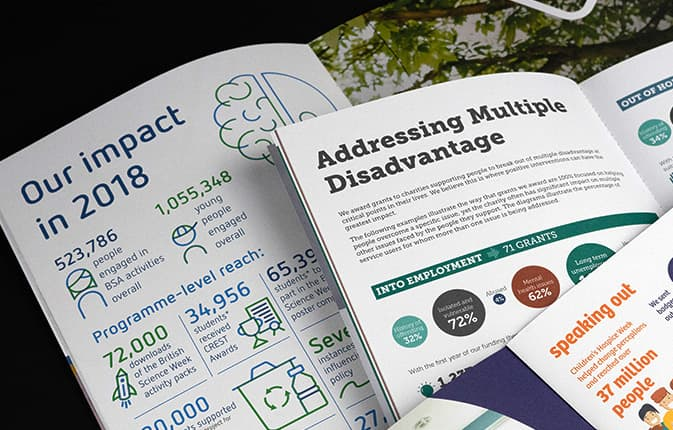 Digitally printed imapact reports